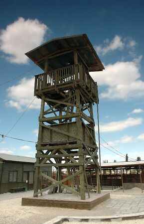 Reconstuction of old watch tower in settlers camp