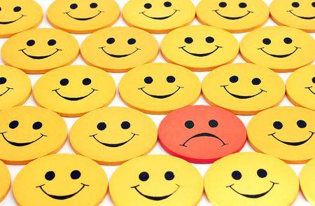verschillen: Happy menigte, behalve een - zie portfolio voor meer smilies