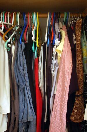 Inside womans closet Stock Photo