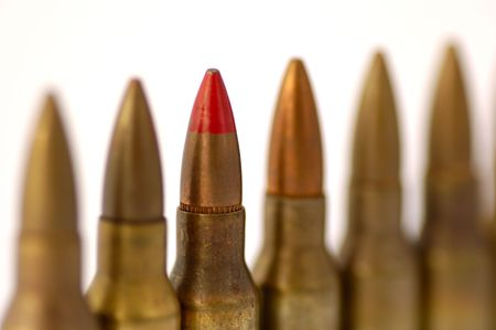 5.56 mm rifle shells - look in profile for more 写真素材