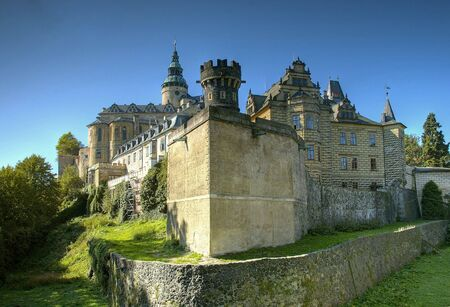 stoneworks: Frydlant - medieval fortress in north of Czech republic Stock Photo