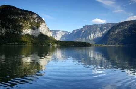Hallstattersee - mountain lake in salzkammergut, Austria photo