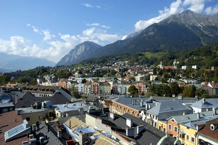 attraktion: View on Innsbruck rooftops with mountains in the background