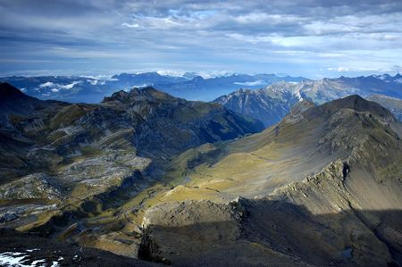 View on Alps from the top of Schilthorn. Switzerland photo