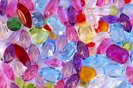 differently: Big pile of colorful differently cut gems Stock Photo