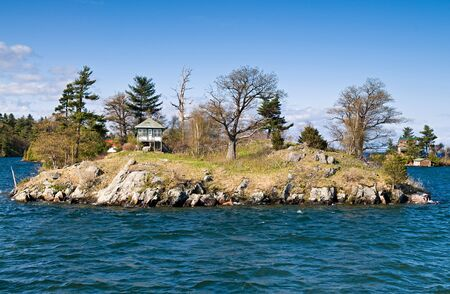 lawrence: A small  on one of Thousand Islands on Saint Lawrence River