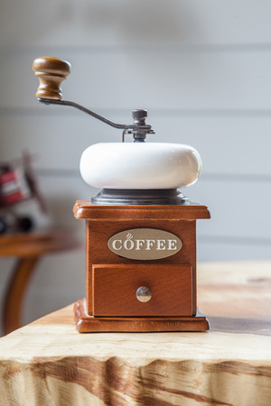 grinder: vintage coffee grinder
