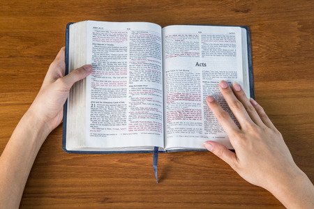 reading bible Banco de Imagens