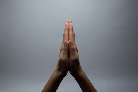 congregation: Praying Hands Stock Photo