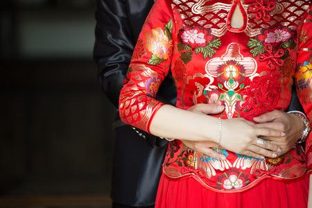 結婚式のカップル恋中国の動き 写真素材