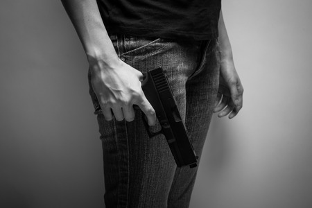 concealed: Girl Officer Concealing Weapon