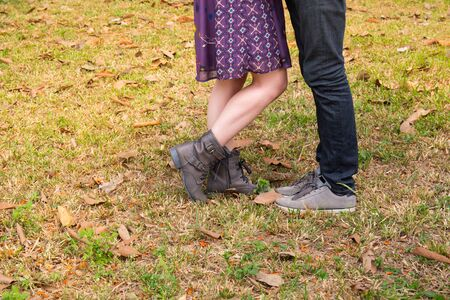keds: couple in love in park