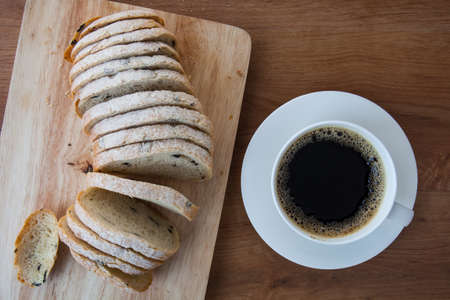 campagne: French bread, Pain de Campagne and coffee