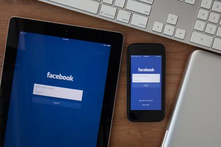 Chiang Mai, Thailand - 10 februari 2015: Facebook het grootste sociale netwerk in de wereld. Het werd in 2004 opgericht door Mark Zuckerberg en zijn huisgenoten tijdens de training aan de Harvard University. Redactioneel