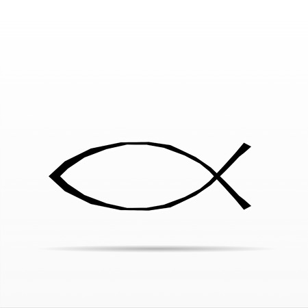 protestant: Christian Fish Symbol Stock Photo