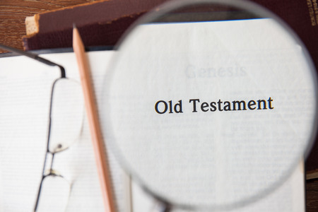 old testament: CHIANGMAI, THAILAND, March 3,2015. Reading The New International Version of the Holy Bible on the page of  old testament  at home. March 3,2015