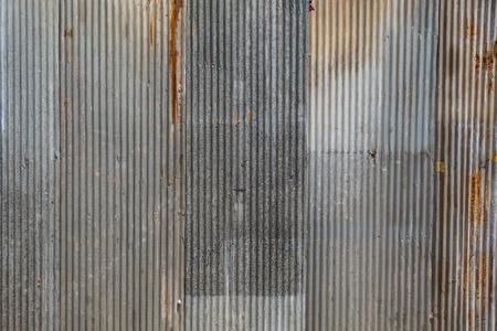 Une texture de métal ondulé rouillée. Banque d'images - 42831017