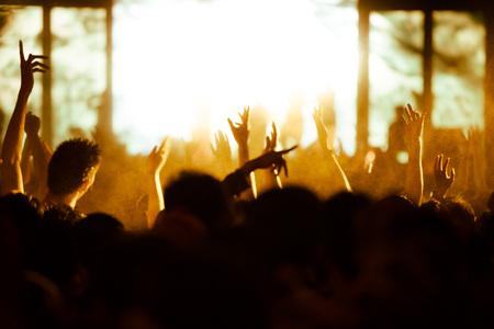 concert crowd: De-focused concert crowd.