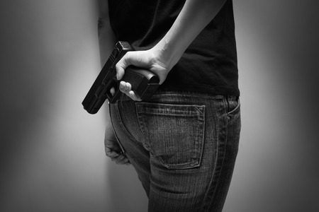 vengeful: Girl Officer Concealing Weapon