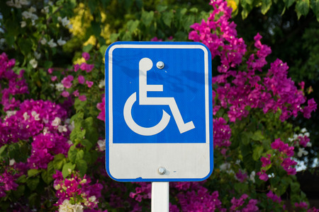 challenged: Handicap sign
