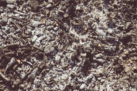 smolder: Background ashes. Copy space. Stock Photo