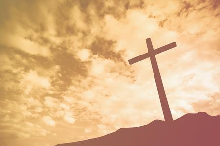 Een kruis op een heuvel