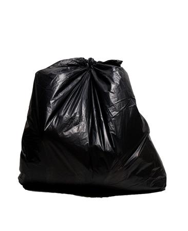 garbage bag: Black garbage bag