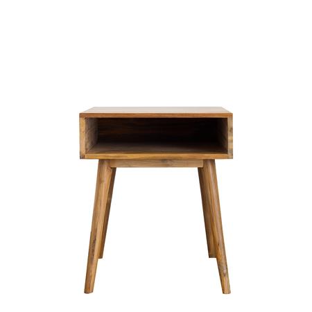 nightstand: Modern style wooden nightstand - isolated Stock Photo