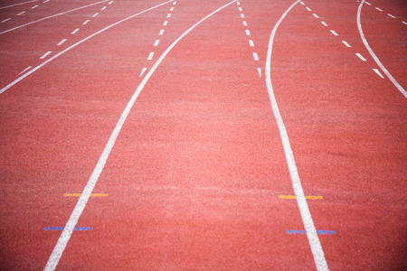 curve: curve of running track.