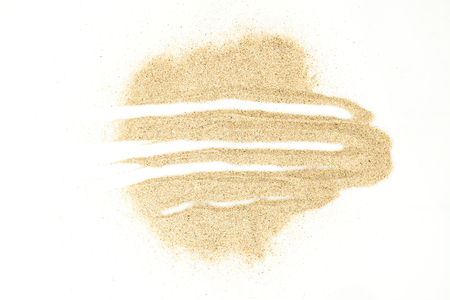 sand texture: Sand stains isolated on white background. Dry sand. Sand texture. Set of vector sand elements.