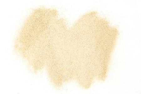 taches de sable isolé sur fond blanc. Sable sec. Texture du sable. Banque d'images
