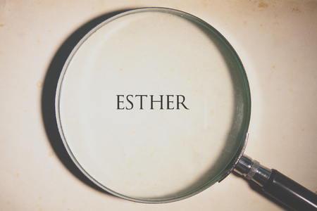 Vintage tone of the Bible book of Esther. Stock Photo