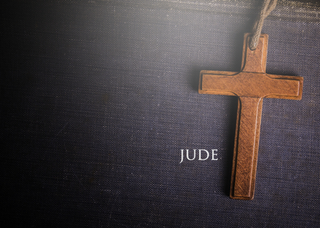 A cross with Bible book of Jude