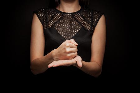 jesus word: Sign Language of word  crucify