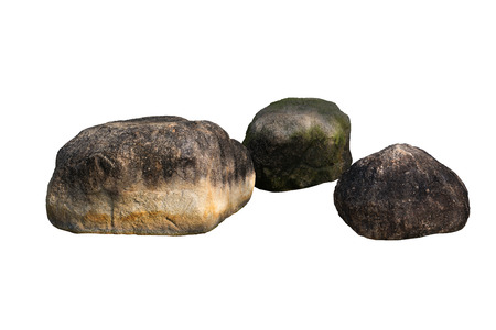 rock stone mountain isolated on white background Banco de Imagens