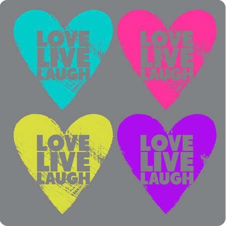 Coeurs au néon