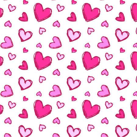 Seamless hearts pink
