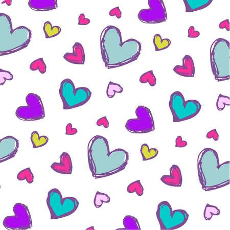 Seamless hearts Ilustração