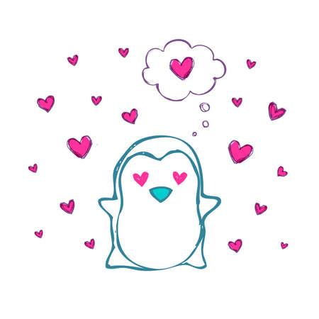 Penguin in love