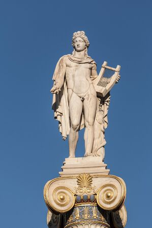 minerva: classic Apollo statue Stock Photo