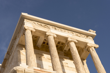 temple of athena nike, propylaea of acropolis 版權商用圖片
