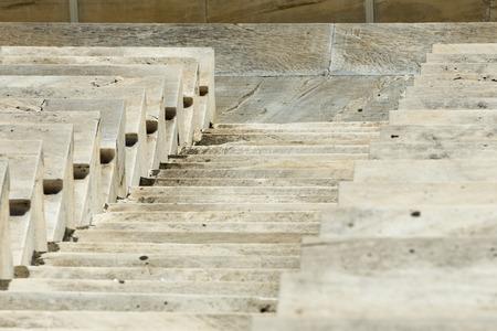 marble stairs of panathenaic stadium Imagens