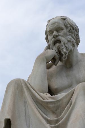 classic statue of Socrates close up