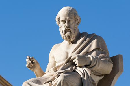 klassieke beelden Plato zittend Stockfoto
