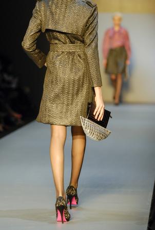 catwalk of single female model