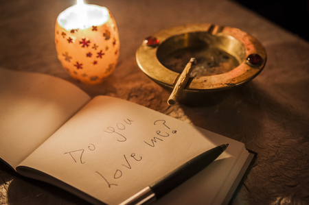 asking for love and trust with a letter