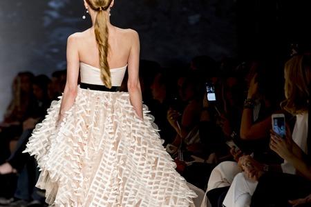 models catwalk in fashion show