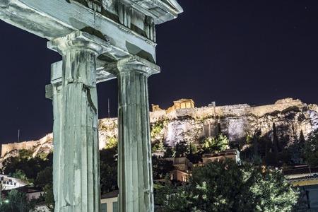 entrance of roman agora, athens, greece