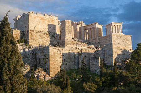 propyla of acropolis, athens, greece