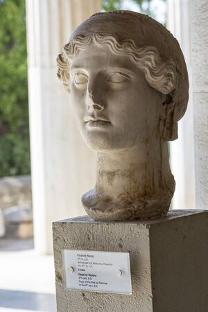 bust of greek ancient goddess of victory Nike